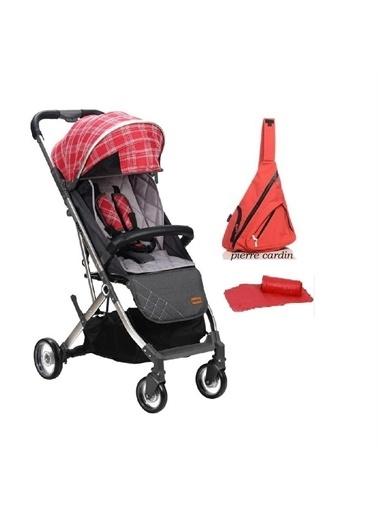 Kraft Kraft Venice Kabin Bebek Arabası + Çanta Pierre Cardin Kırmızı